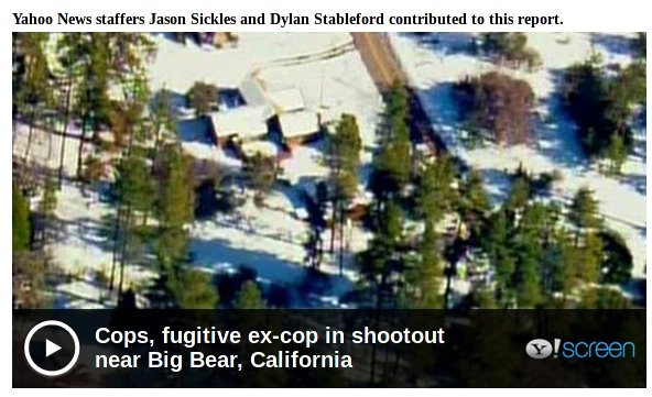 The shootout between Dorner and cops